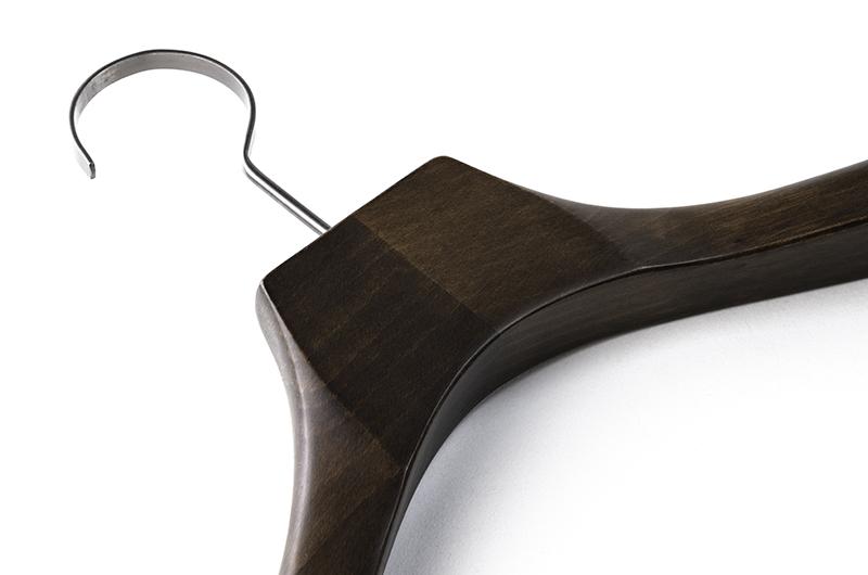 XZ012/フラットフック付き木製スーツハンガー